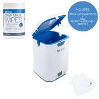 SoClean 2 CPAP Cleaner & Sanitizer (With ResMed AirSense 10 Adapter and FREE Mask Wipes Included)