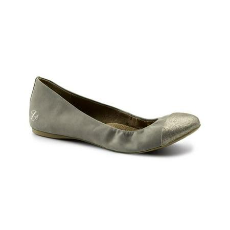 - Lila SureGrip Womens Emma Army/Pewter Slip Resistant Work Flat