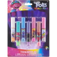 Trolls World Tour Super Sparkly 7 Pack Party Favor Lip Gloss