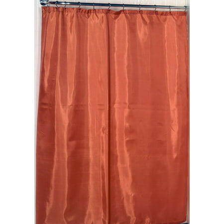 Royal Bath 100% Polyester Fabric Shower Curtain Liner With Weighted Bottom Hem In Tangerine, Size