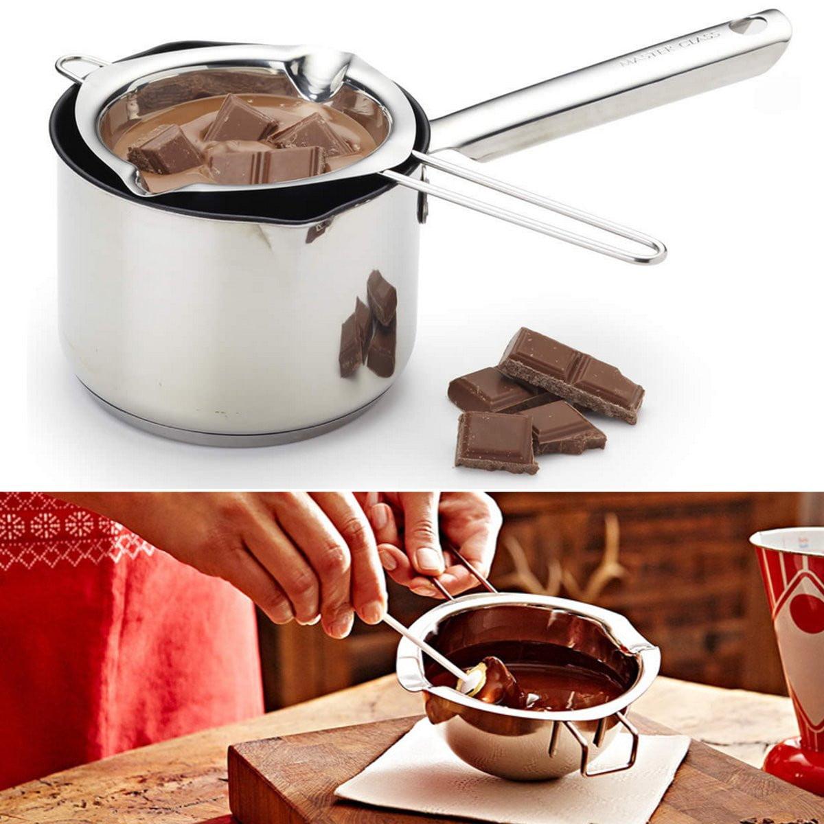 Stainless Steel Chocolate Butter Melting Pot Pan Kitchen Craft Melting Pot Pan Milk Bowl Kitchen Tool