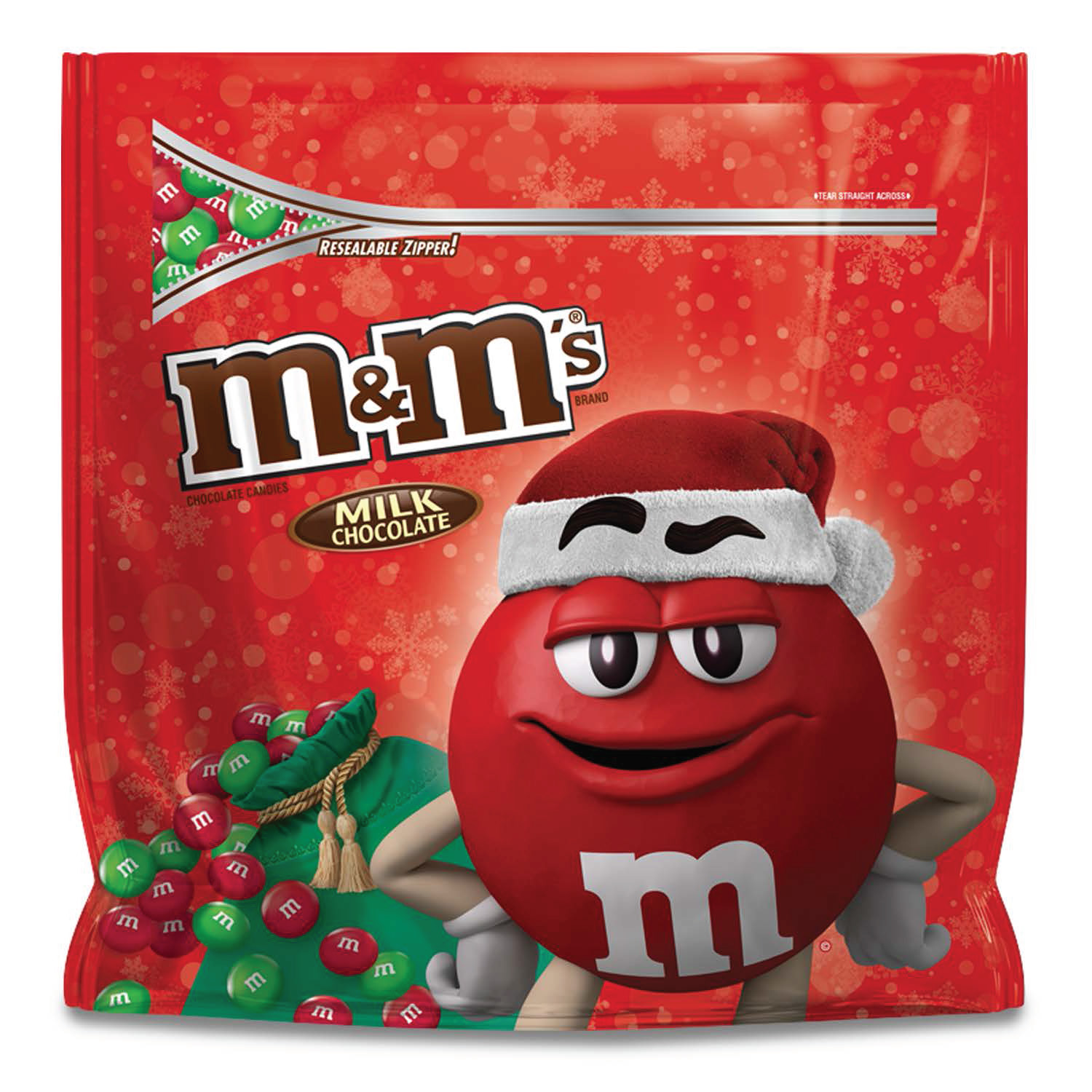 M'S Holiday Milk Chocolate Christmas Candy Party Size Bag, 42 oz