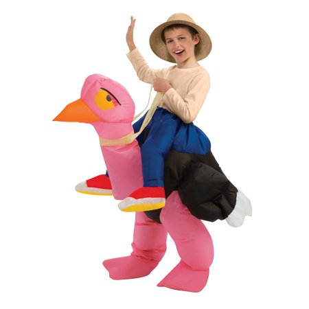 Kids Inflatable Ride-On Ostrich Costume (Man On Ostrich Costume)