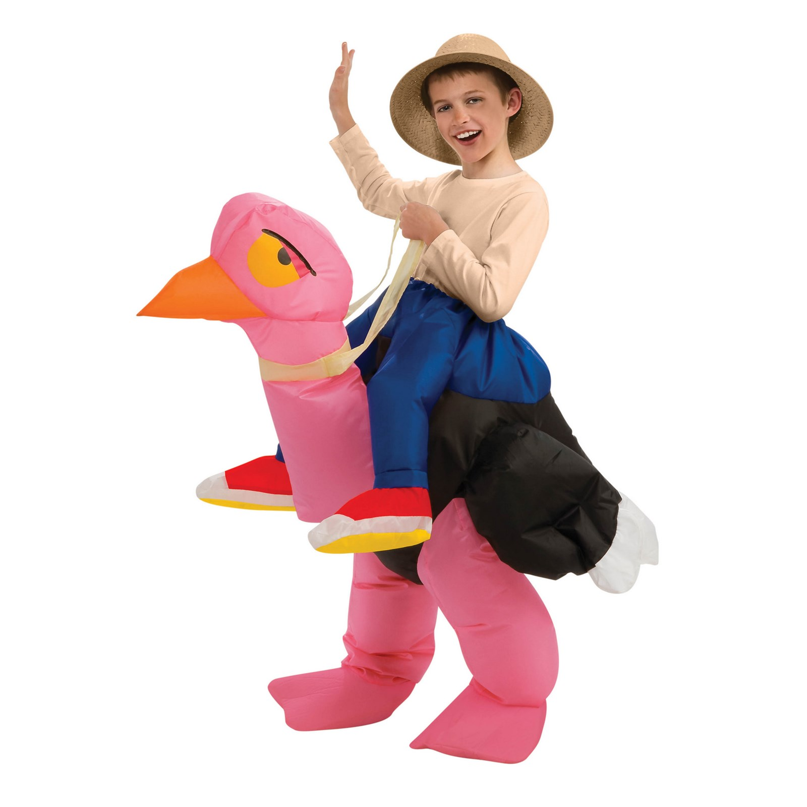 Kids Inflatable Ride-On Ostrich Costume