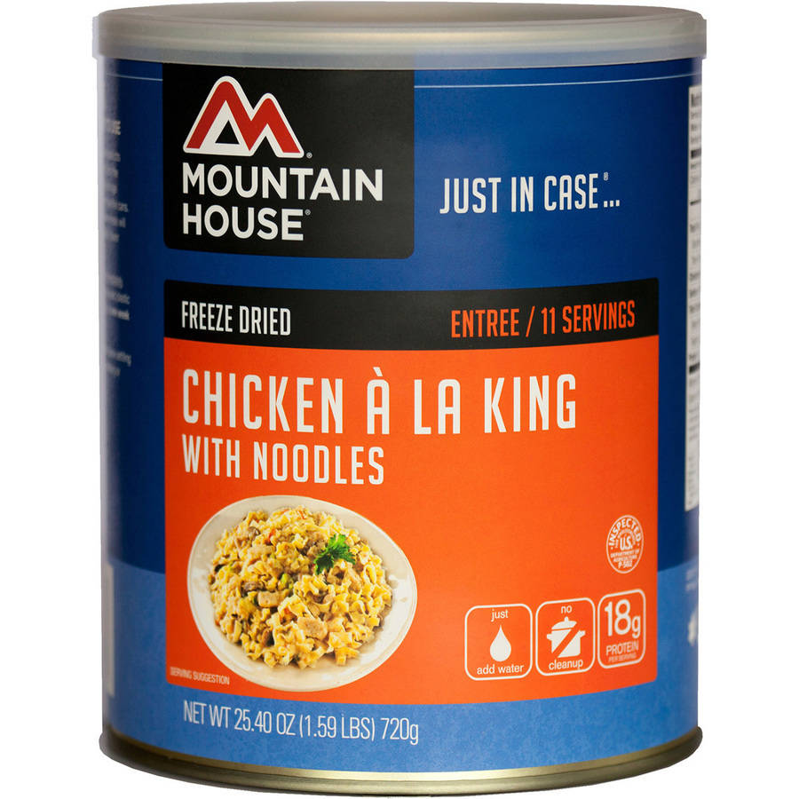 Mountain House Chicken Ala King and Noodles Can