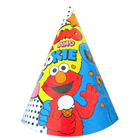 Elmo Hat (Sesame Street Vintage 'Elmo and Friends' Cone Hats)