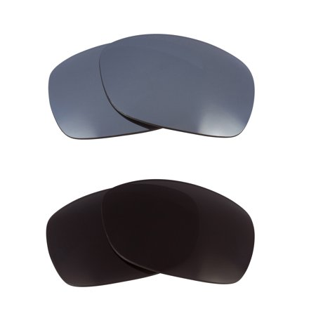 Sideways Replacement Lenses Black & Silver Mirror by SEEK fits OAKLEY (Sideways Sunglasses)
