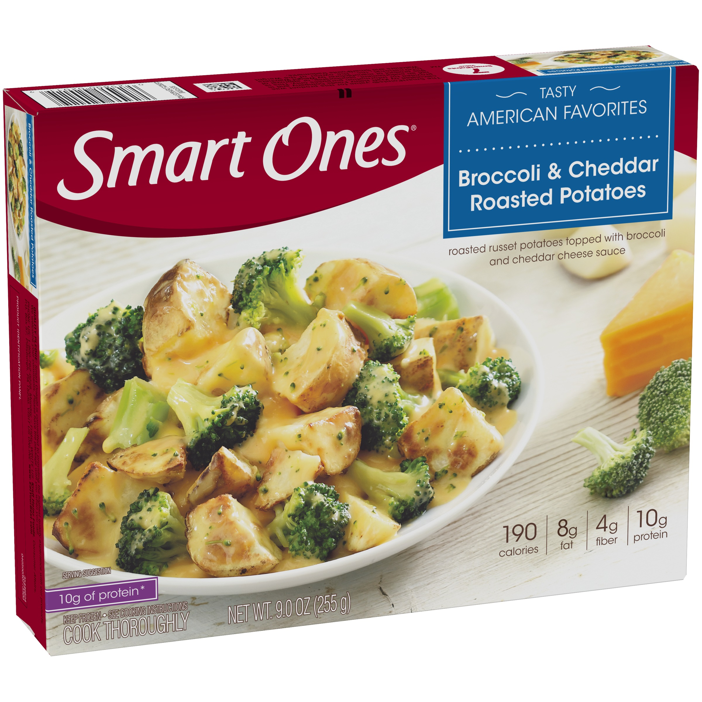 Smart Ones® Tasty American Favorites Broccoli & Cheddar Roasted Potatoes 9 oz. Box