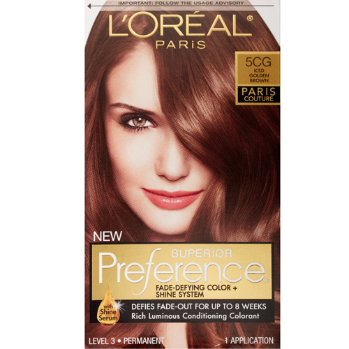 Loreal Paris Superior Preference 5Cg Iced Golden Brown Hair Color - Kit