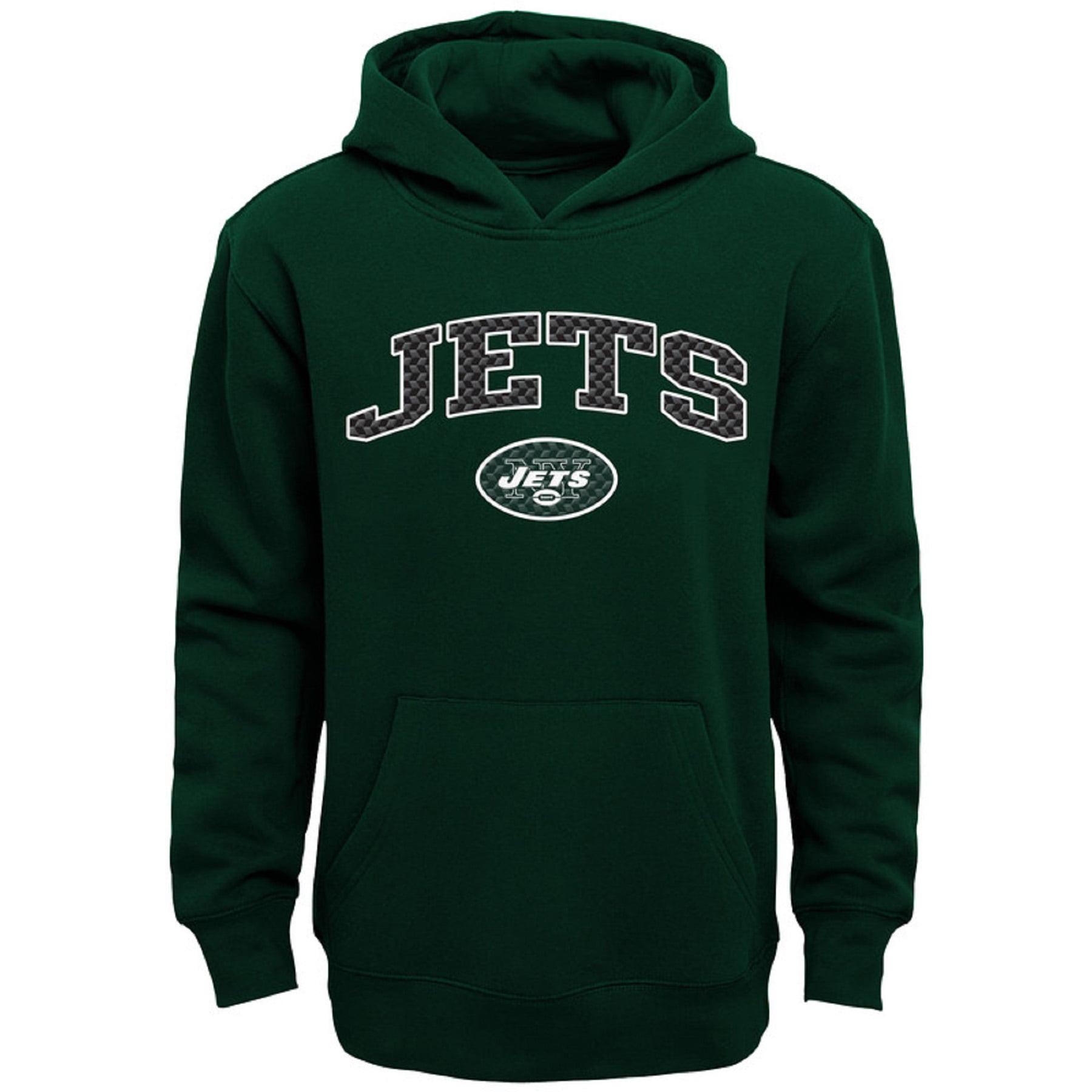 Youth Green New York Jets Clear Gel Fleece Hoodie