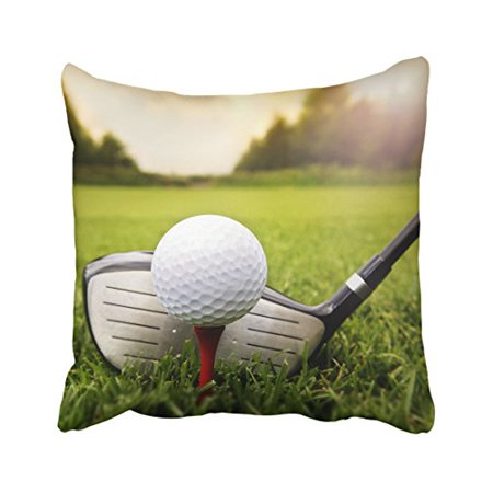 Golf Theme Ideas (WinHome Decorative Fashion Golf Ball on the Green Grass Pillow Case You Perfect Idea Size 18x18 inches Two)