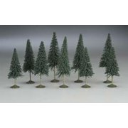"""32101 SS 3-4"""" Pine Trees (9) N Multi-Colored"""