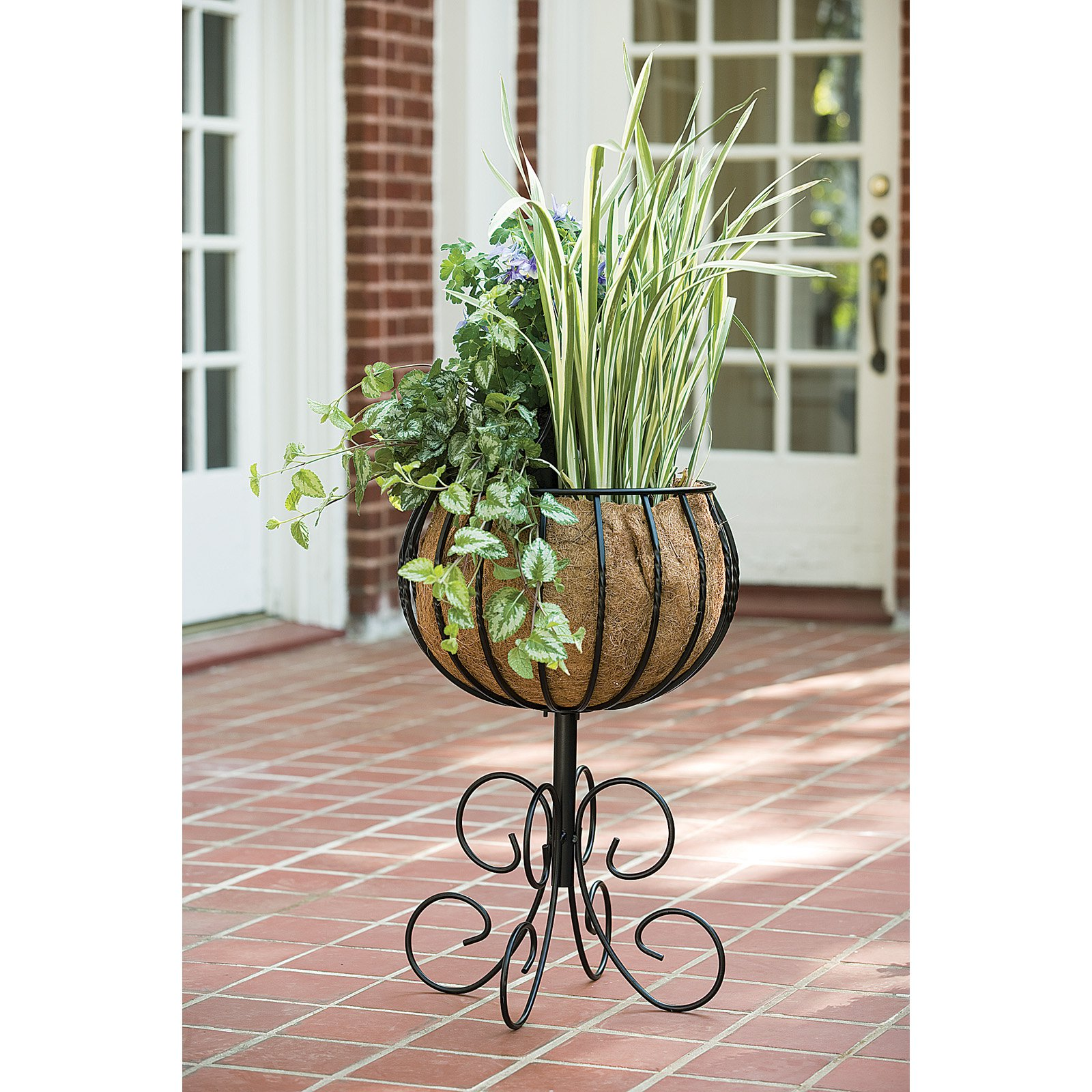 Gardman R954 Blacksmith Patio Urn With Coco Liner by World Source Partners