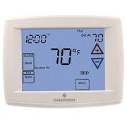 Emerson 90 Series Programmable, 1H/1C, Blue Digital Touchscreen Thermostat