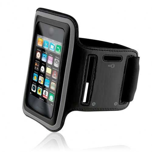 Armband Sports Gym Workout Cover Case Arm Strap Jogging Band Pouch Neoprene Black B5 for iPhone 6 Plus 6S Plus 7 Plus - HTC Bolt - LG Stylo 3, V10 - Motorola Droid Turbo 2 - Samsung Galaxy J7, Note 3