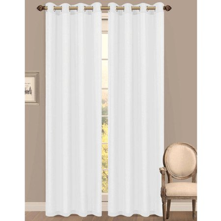 - Primavera Semi-Sheer Crushed Microfiber 55 x 84 in. Grommet Curtain Panel