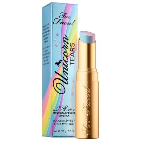 Too Faced La Creme Mystical Effects Lipstick in Unicorn Tears 0.11 (La Creme Color Drenched Lipstick Unicorn Tears)