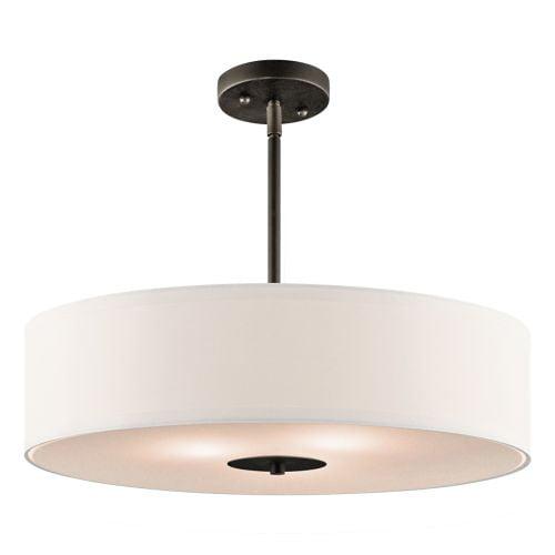 3 Light Semi Flush Pendant