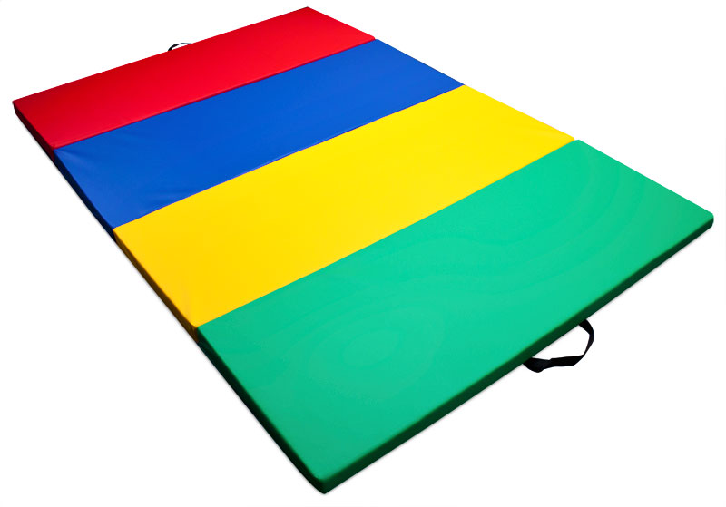 mixed rainbow and gymnastics 4u0027 x 6u0027 tumbling mat