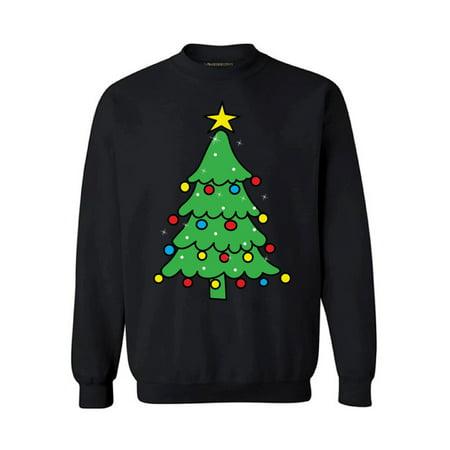 Awkward Styles Christmas Tree Sweatshirt Christmas Sweater Christmas Tree Holiday Sweatshirt Xmas Gifts Christmas Sweatshirt for Men and for Women Merry Christmas Sweater Family Holiday Sweatshirt