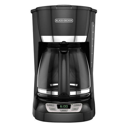 BLACK+DECKER 12-Cup* QuickTouch Programmable Coffeemaker, Black, (5 Cup Programmable Coffee Maker)