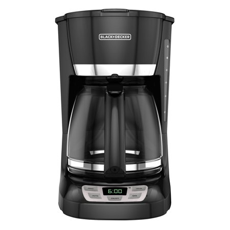 BLACK+DECKER 12-Cup* QuickTouch Programmable Coffeemaker, Black, CM1060B (White Thermal Programmable Coffee Maker)