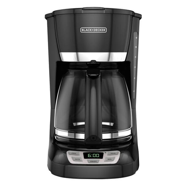 Black Decker 12 Cup Quicktouch Programmable Coffeemaker Black Cm1060b Walmart Com Walmart Com