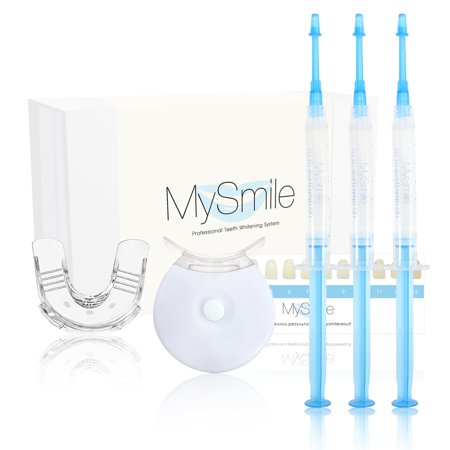 MySmile Radiant Effects Teeth Whitening Kit  best home HISMILE System 3*3ML Gel Syringe +1 Silicone Tray+5 led Light 20 Treatments (Teeth Whitening Kit Uv Light)