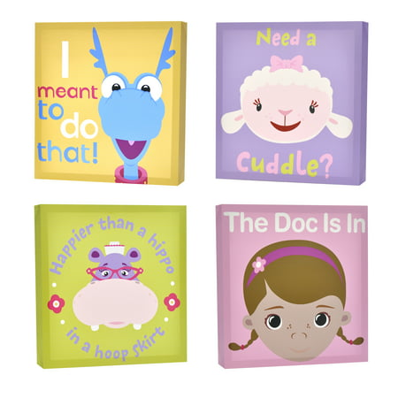 Disney Doc McStuffins 4-Pack Canvas Wall Art - Walmart.com