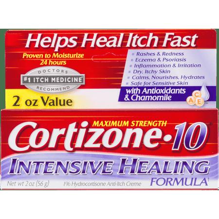 Cortizone 10 Maximum Strength Intensive Healing Formula 1  Hydrocortisone Anti Itch Cr Me  2Oz