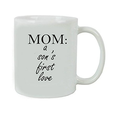 Mom: A Son's First Love Coffee Mug with FREE Gift Box - Great Gift for Mother's Day Birthday or Christmas Gift for Mom (White)](Boxes For Christmas Gifts)