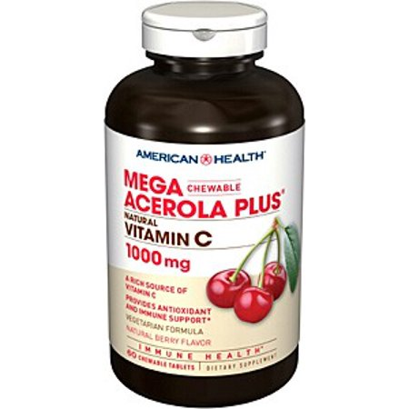 Mega Acerola 1000mg American Health Products 60 Chewable