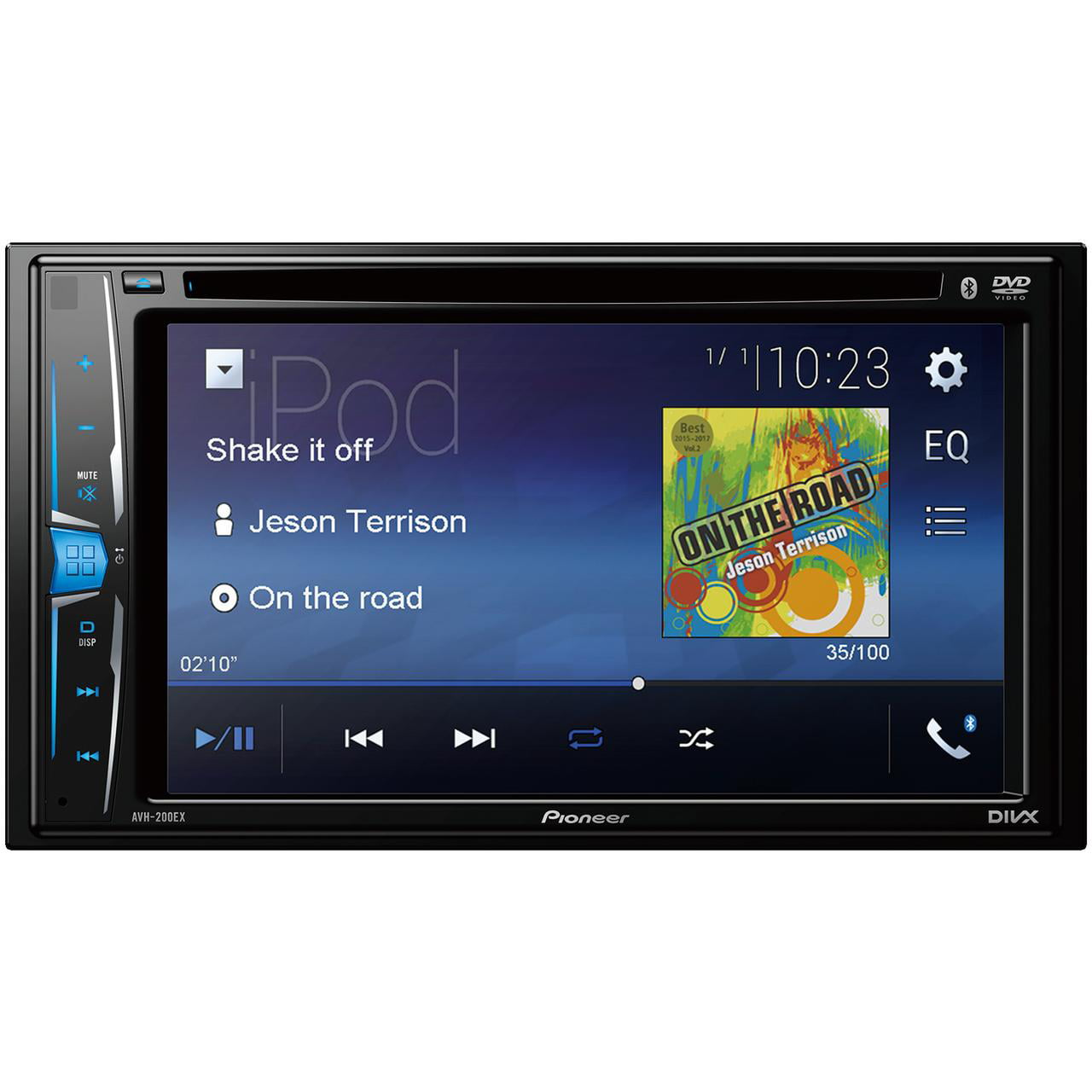 """PIONEER AVH-200EX 6.2"""" Double-din In-dash Dvd Receiver With Wvga Clear-resistive Touchscreen & Bluetooth by Pioneer"""