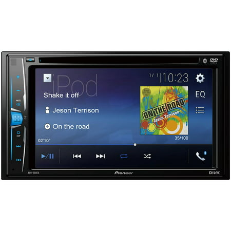 "Pioneer 6.2"" Double-DIN In-Dash DVD Receiver with WVGA Clear-Resistive Touchscreen & Bluetooth"