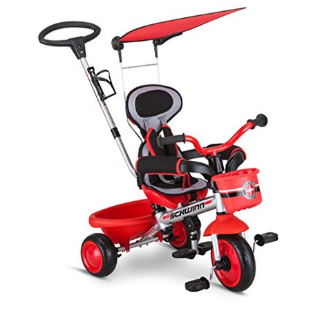 Schwinn Easy Steer 4 in 1 Tricycle-Color:Red,Size:8