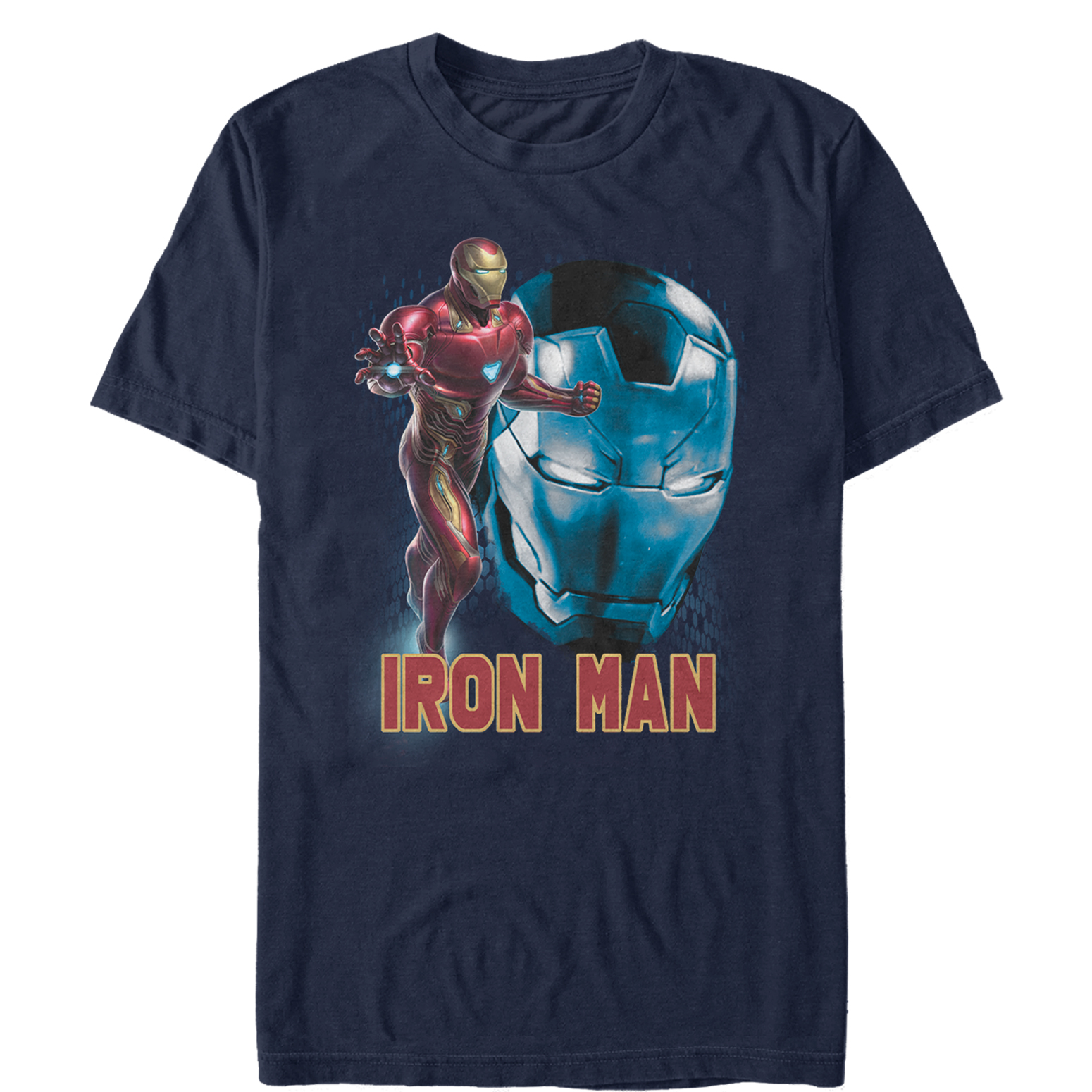 Marvel Men's Avengers: Endgame Iron Man Helmet T-Shirt