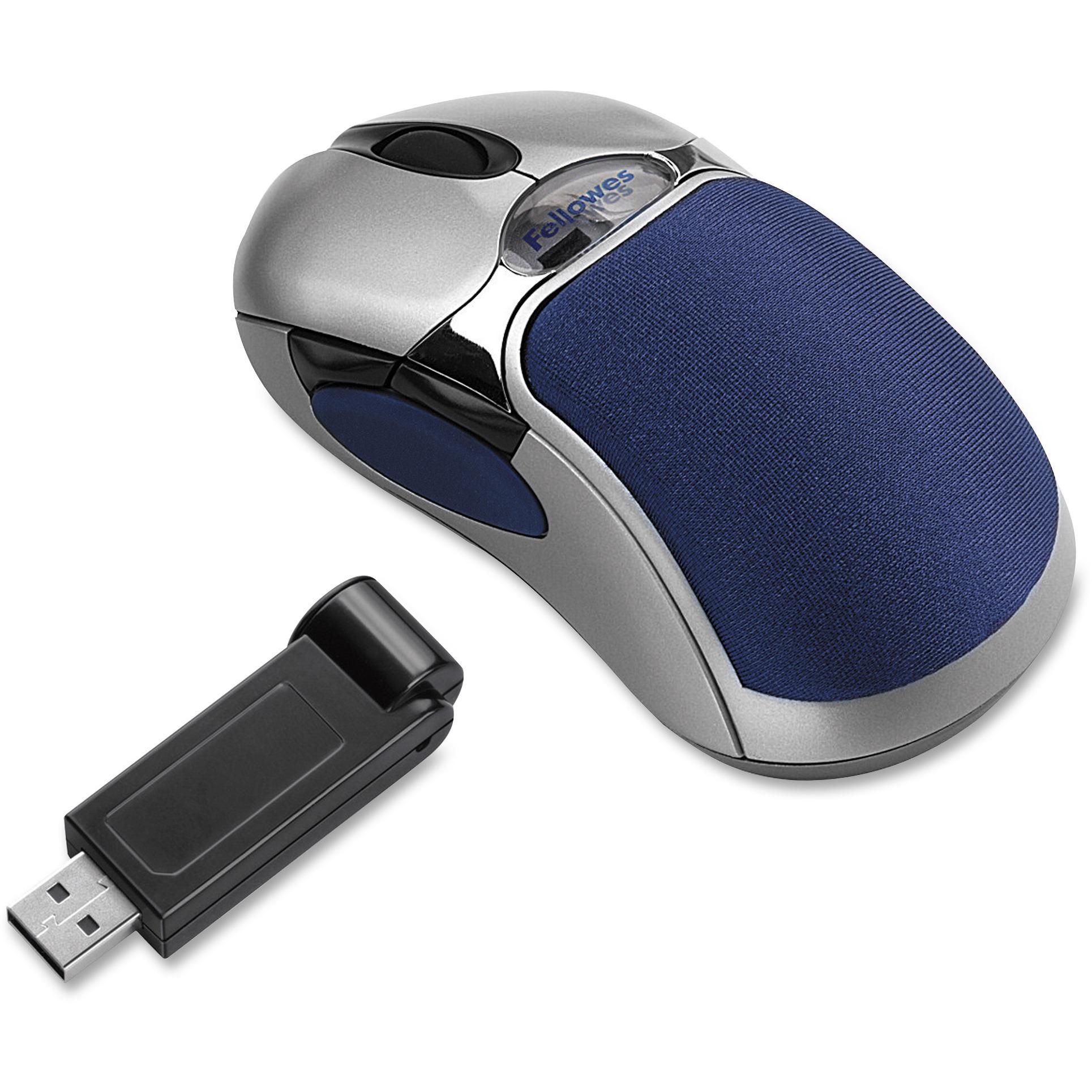 Fellowes, FEL98904, 5-Button HD Optical Mouse, 1, Silver,Blue