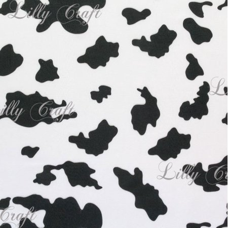 Black White Poly Cotton Cow Print 60 Inch Fabric By The