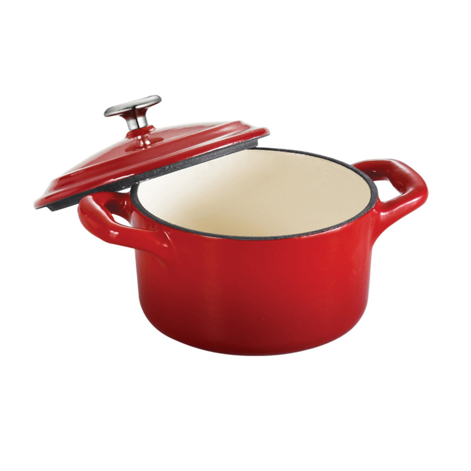 Tramontina Gourmet Enameled Cast Iron 10.5 oz. Covered Mini Cocotte - Gradated Red