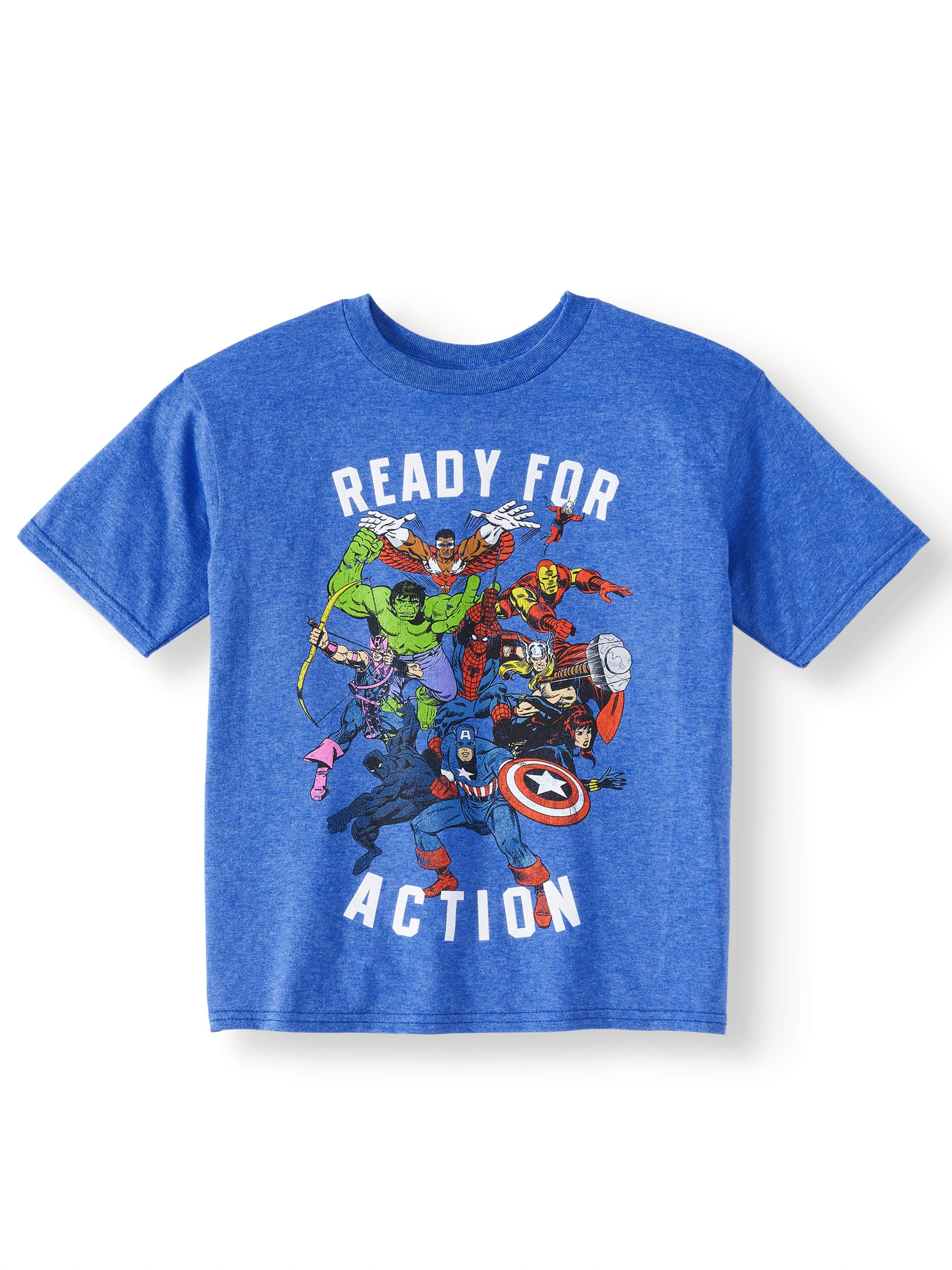 """Avengers Team Radial"" Short Sleeved Licensed Tee (Little Boys & Big Boys)"