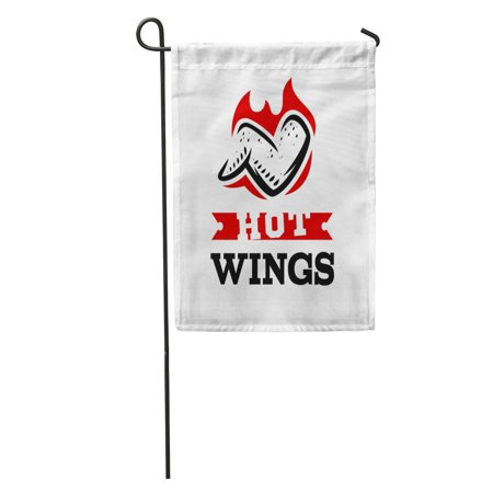Barbecue Chicken Wings (KDAGR Barbecue Chicken Wings Flames Hot Grilled BBQ Branding Cook Cooking Garden Flag Decorative Flag House Banner 12x18 inch)