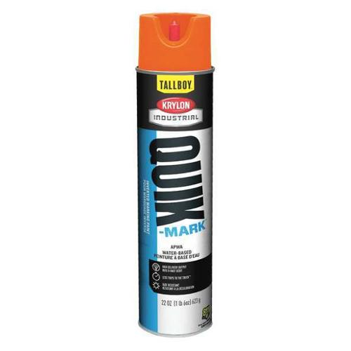 KRYLON Marking Paint,Fluorescent Orange,22 oz., T03700004