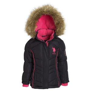 US Polo Assn Girl Down Alternative Hooded Fleece Lined Puffer Bubble Jacket Coat