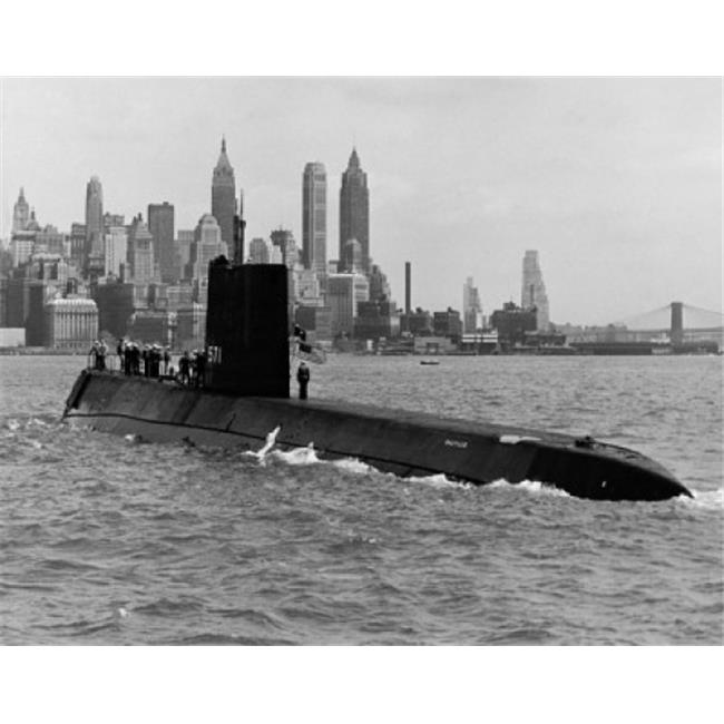 Superstock SAL25525352 Submarine in The Sea Uss Nautilus, Ssn-571 Nuclear-Powered Submarine New York City New York State USA Poster Print, 18 x 24 - image 1 of 1