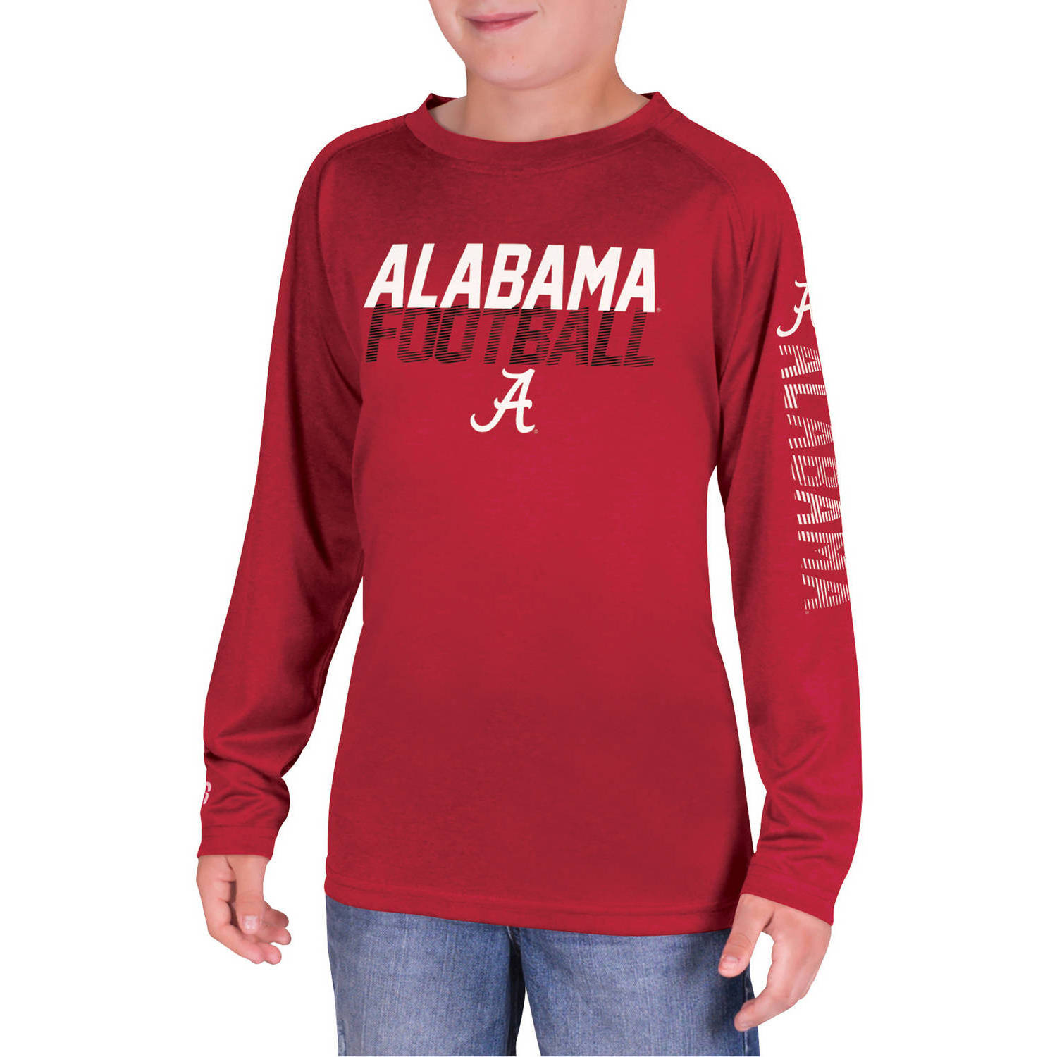 NCAA Alabama Crimson Tide Boys Long Sleeve Impact T-Shirt