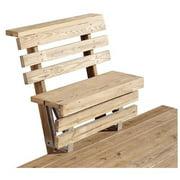 2x4basics Dekmate Deck Bench Bracket – Redwood, Single