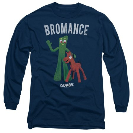 Gumby Halloween (Gumby Green Clay Character Bromance Adult Long Sleeve T-Shirt)