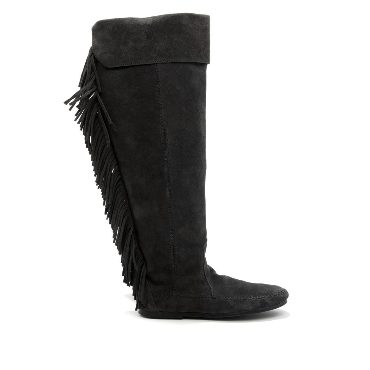 Minnetonka Over-the-Knee Suede Fringe Boot 567-759 by