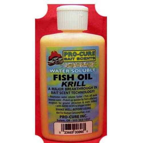 Pro-Cure 4 oz Water Soluble Bait Oil, Krill