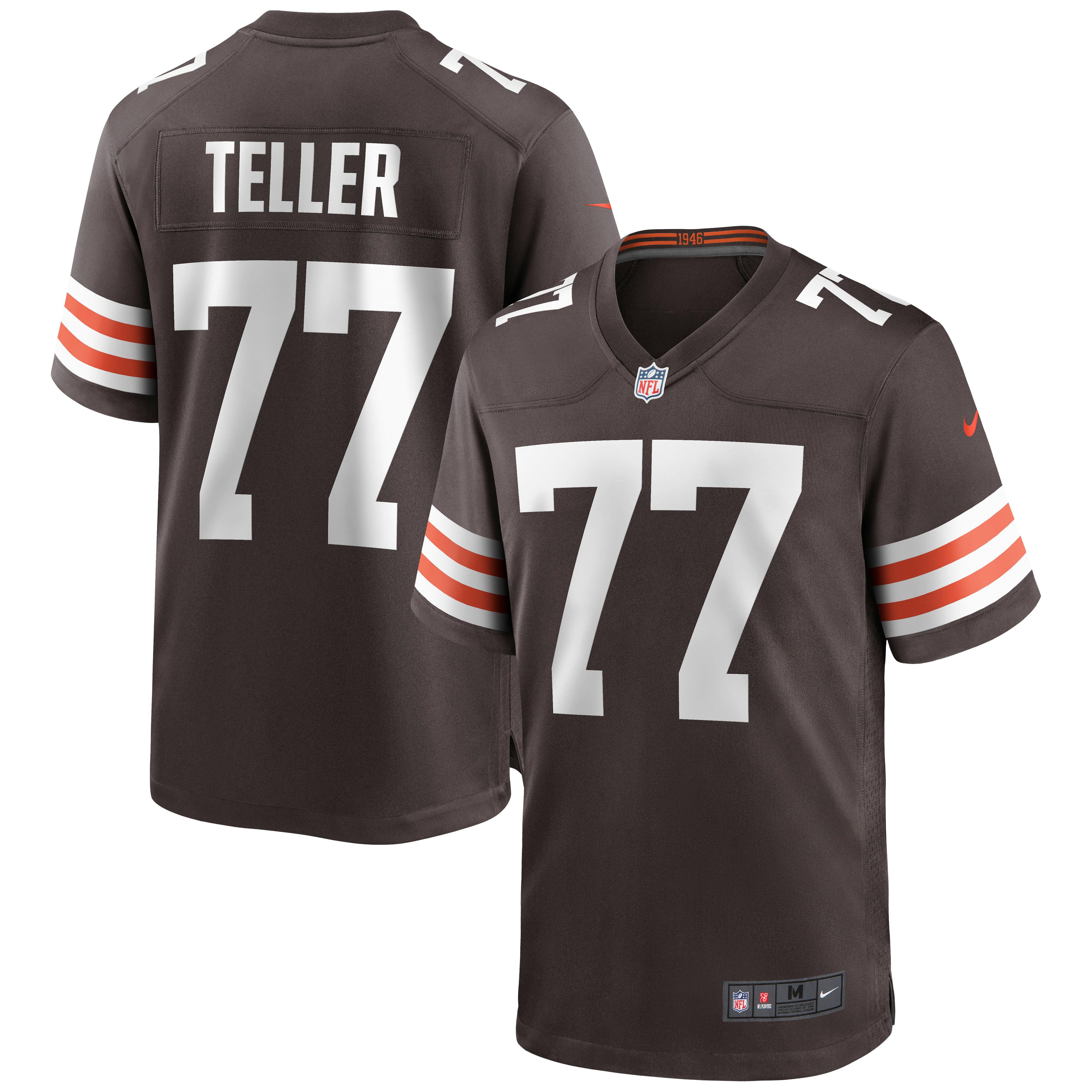 Wyatt Teller Cleveland Browns Nike Game Jersey - Brown - Walmart.com